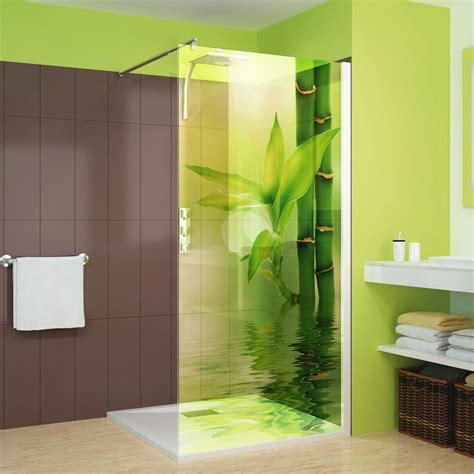 Aufkleber Lösen Von Glas by Wandtattoos Folies Glasdekor Dusche Bambus