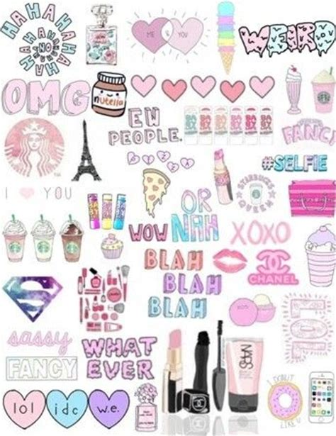 Wallpaper Sticker Girly collage collages collage and