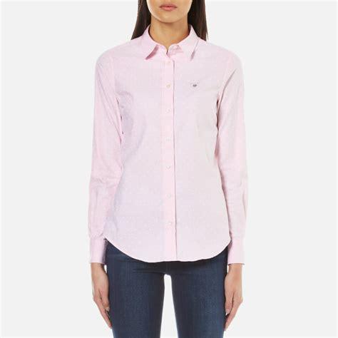 light pink shirt womens gant s stretch oxford printed dot shirt light pink
