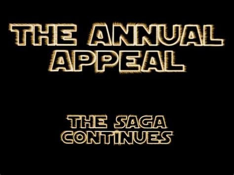 The Saga Continues by The Annual Appeal The Saga Continues Abridged