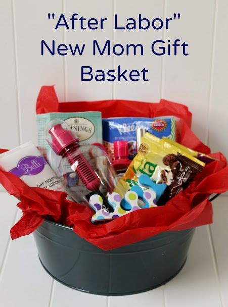 create a diy new mom gift basket for after labor mom