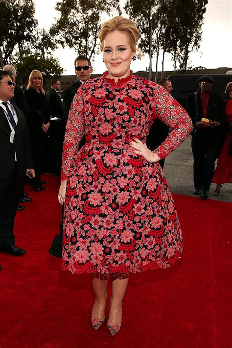 adele grammy photos 2013 pictures of adele in pink valentino dress at 2013 grammys