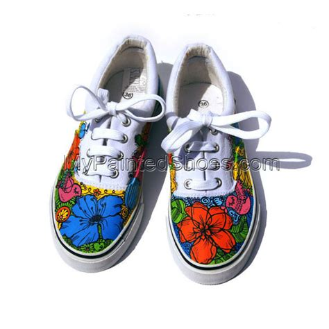 cus sneakers painted converse flowers sneakers personalized