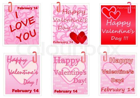 valentines day note happy valentines day notes stock photo colourbox