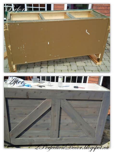 Remodelaholic   IKEA Hack Rustic Bar with Galvanized Metal Top