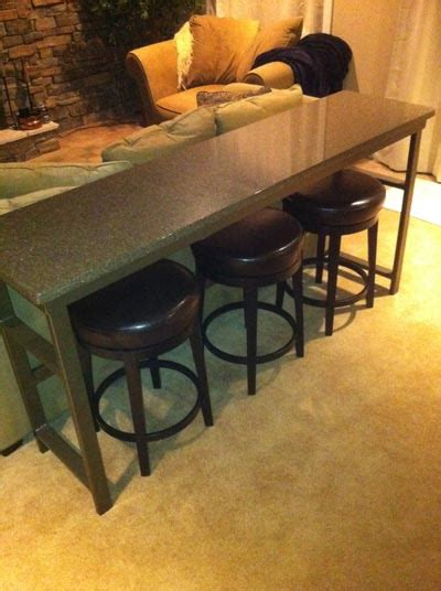 long table behind couch bar table behind theater seats avs forum home theater