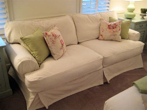 Shabby Chic Slipcovered Sofas shabby chic cottage slipcovered sofa traditional sofas other metro by posh surfside