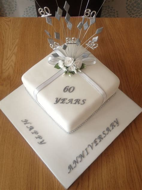 Diamond wedding anniversary cake   Places to Visit