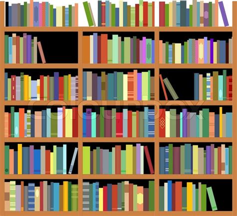isolated bookshelf stock vector colourbox