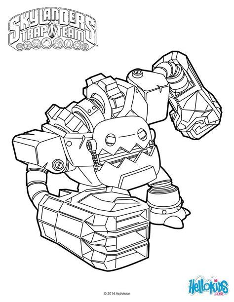 skylanders coloring pages games jawbreaker from skylanders trap team coloring page more