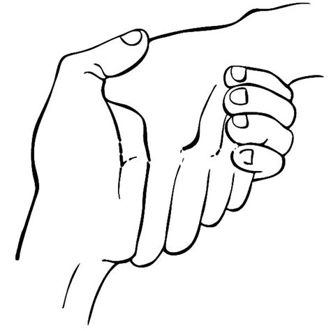 coloring page hands two hands cupped together coloring pages
