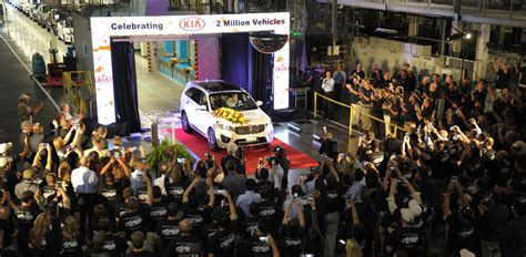 Kia Motors Manufacturing Kia Motors Produces Two Millionth Us Made Vehicle