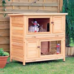 Petco Rabbit Hutches Best Dog Cages Trixie Natura 2 Story Rabbit Hutch