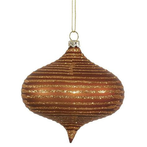 vickerman 337219 4 quot copper matte glitter onion christmas