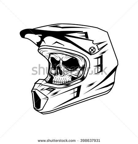 skull motocross helmet dirt bike helmet stock photos royalty free images