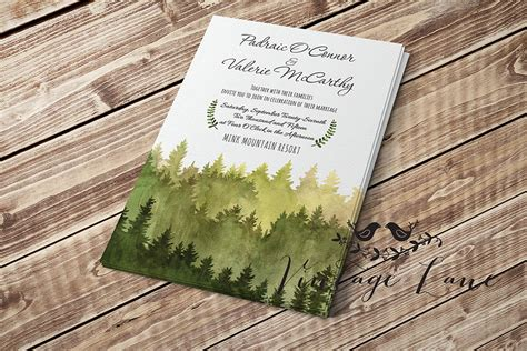 Wedding Invitations With Woods Themes by Wedding Invitations