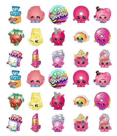 Shopkins Cake Topper Shoppin edible image 30 shopkins cupcake cake toppers