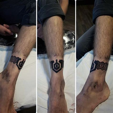 ankle band tattoos for men 60 ankle band tattoos for lower leg design ideas