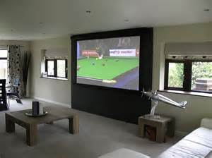 home projectors 3 exles of clever projection screen installations