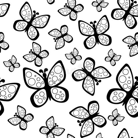 black and white butterfly pattern beautiful seamless butterflies pattern in black and white