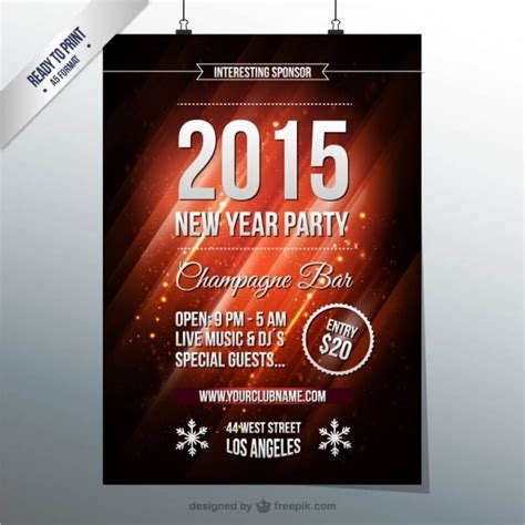 new year poster new year s poster vector free