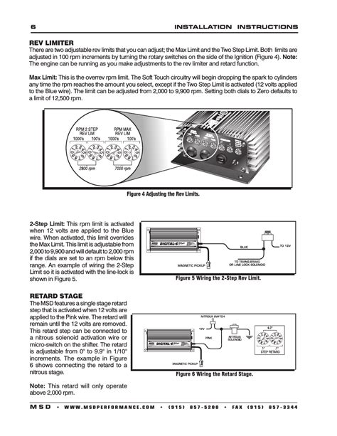 msd digital 6 plus ignition wiring diagram wiring