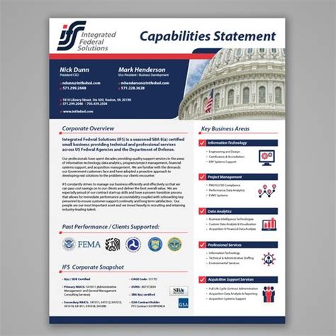 11 Best Images About Capabilities Statement On Pinterest Creative Federal And Design Capability Statement Template Doc
