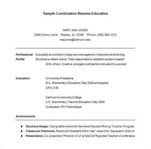 Combination Resume Template Free by Combination Resume Template 6 Free Sles Exles