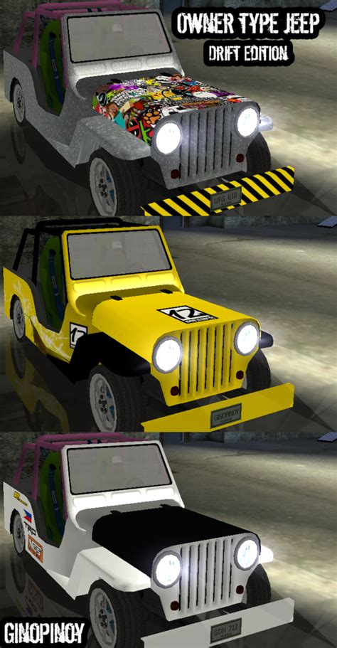 Owner Type Jeep Automatic Owner Type Jeep Drift Edition Addon Ginopinoy Mods For