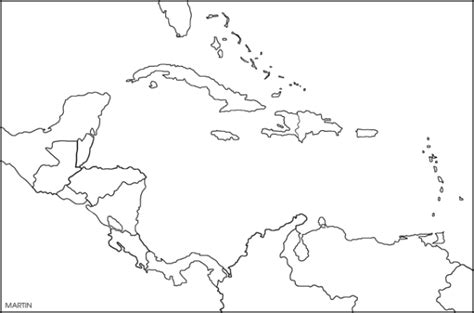blank map central america caribbean islands maps of jamaica right steps poui trees
