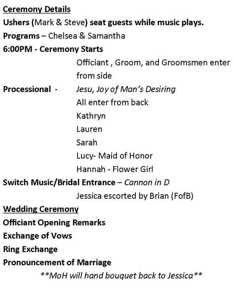 19 wedding ceremony templates free sample example format