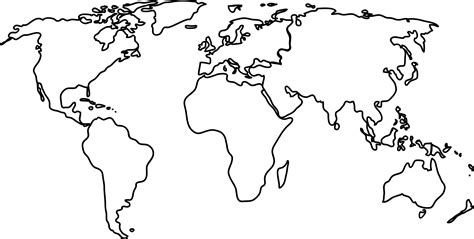 world map outline vector clipart world map