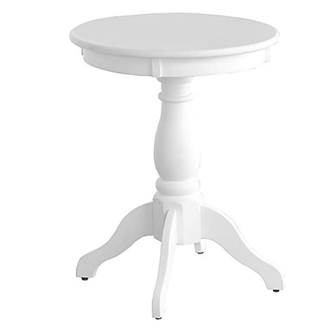 Buy Pedestal Accent Side Table In White From Bed Bath Beyond