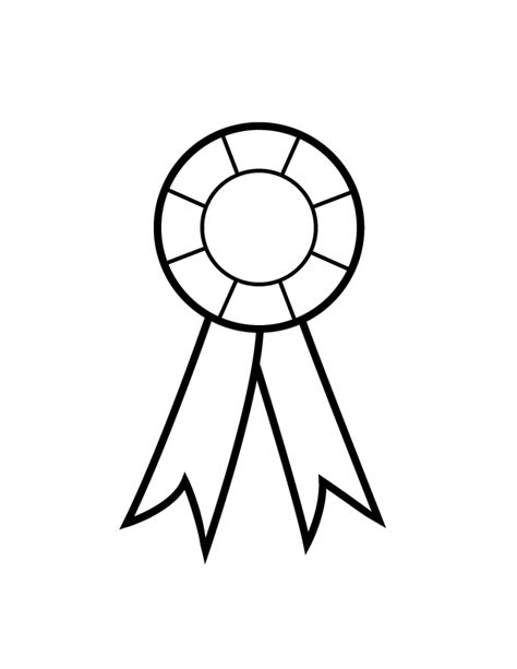 coloring page prize ribbon free 1st 1st place ribbon coloring pages