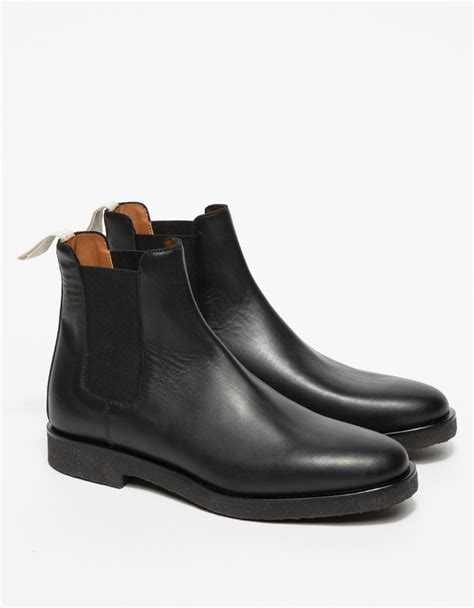 by common projects boots common projects leather chelsea boots in black lyst