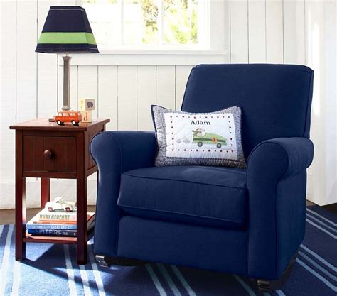 boys bedroom chair boys room sitting area blue armchair striped carpet