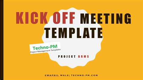 project kickoff meeting template   project