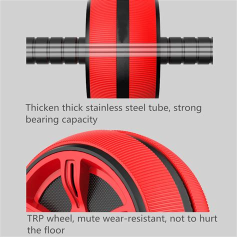 ab roller abdominal exercise wheel with knee mat pad fitness workout ebay