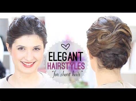 elegant hairstyle  short hair youtube
