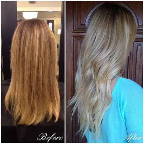grow out highlights ombre look photos grown out highlights look like ombre before and