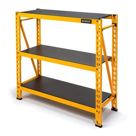 industrial storage shelves dewalt 48 in h x 50 in w x 18 in d 3 shelf steel laminate expandable industrial storage