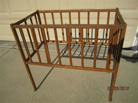 Port A Crib by Wooden Vintage Folding Baby Crib Bed Doll Crib Bed Port A