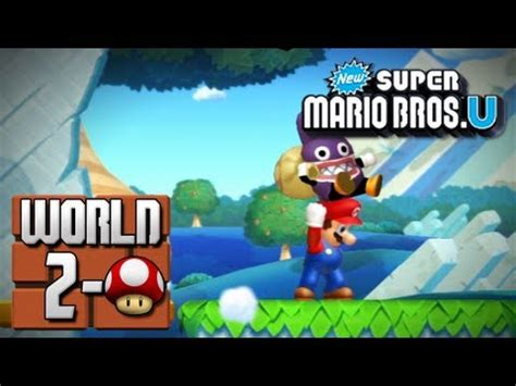 mushroom house world 2 new super mario bros u world 2 mushroom house youtube