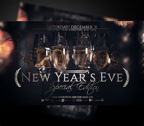 New Years Eve Party Flyer Poster Template
