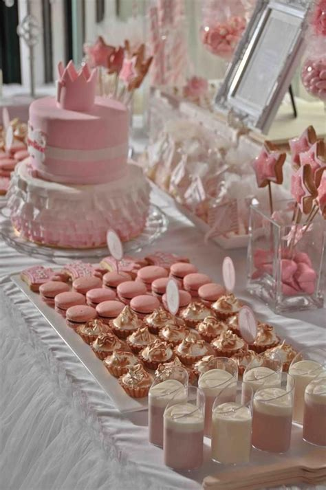 Grey Home Decor by Pink And Gold Candy And Cake Table For A Little