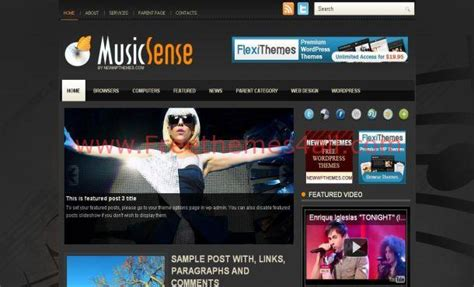 themes wordpress music orange music free wordpress theme download