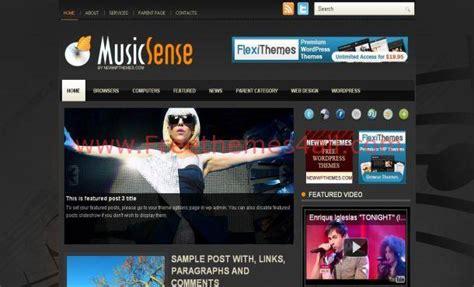 themes music wordpress free orange music free wordpress theme download