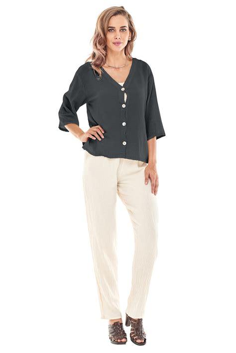 Cotton Tunik Blazer oh my gauze ronie blouse or jacket tunic top 100 cotton lagenlook ebay