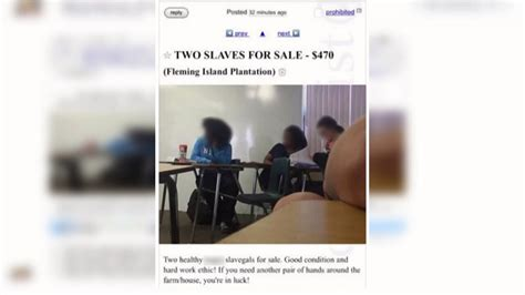 I Posted An Ad On Craigslist This Morning To Rent by Craigslist Ad For Slaves Posted From Florida High School