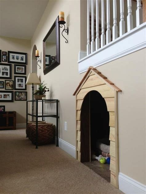 staircase dog house 25 great ideas of dog house under staircase tail and fur